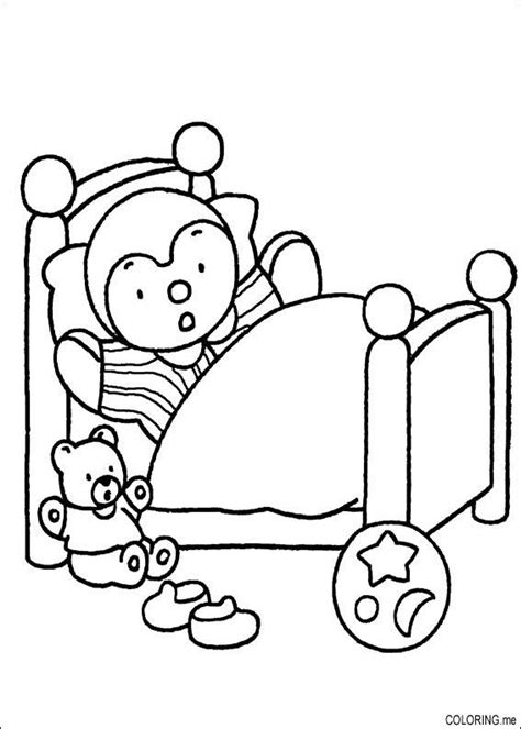 page bedding coloring page charley and mimmo and bear in bed coloring me
