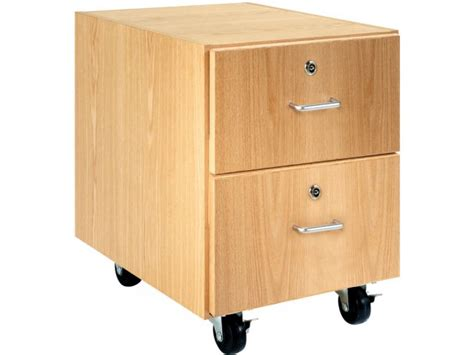 Mobile Storage Drawers by Wooden Mobile Pedestal With 2 Drawers 30 Quot H Mobile Storage