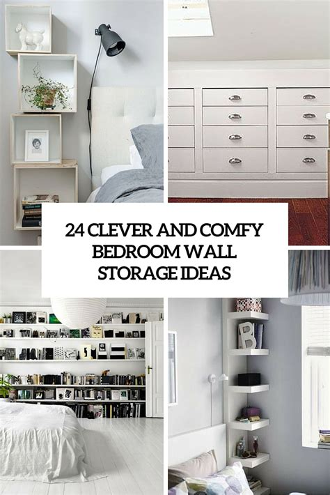 Wall Storage Ideas Bedroom | 24 clever and comfy bedroom wall storage ideas shelterness
