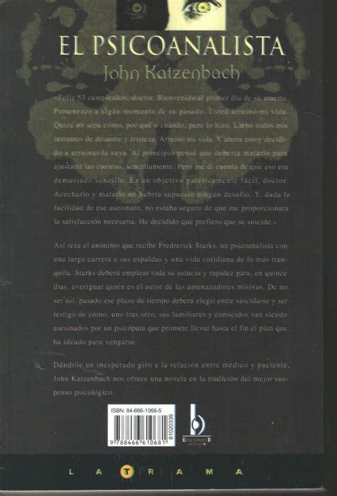 libro el psicoanalista el psicoanalista john katzenbach ediciones b 199 00 en mercado libre
