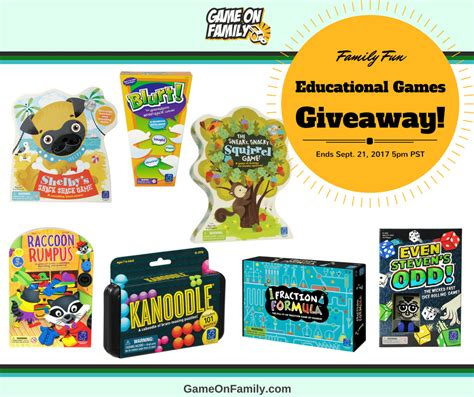 Games Giveaway - educational games giveaway win 7 games