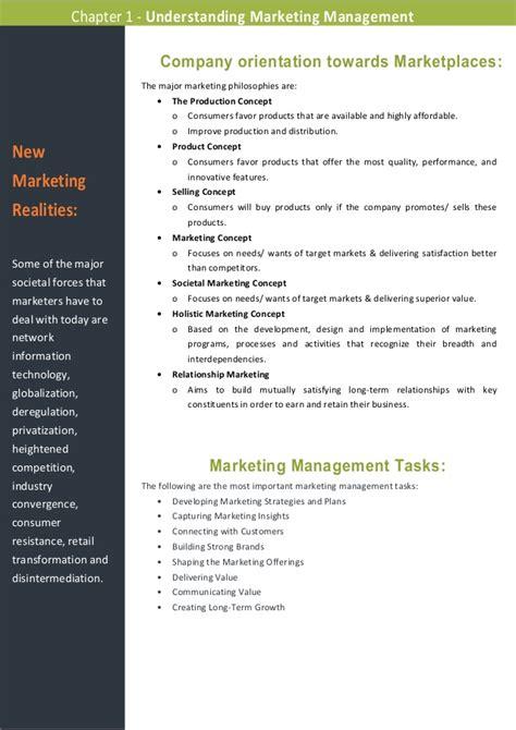 Marketing Management 11ed summary of marketing management 11ed chapter 1