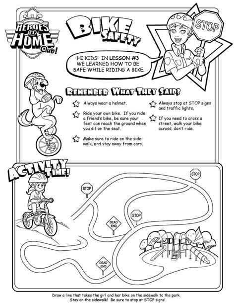 Safety For Worksheets by Bicycle Bicycle Safety For