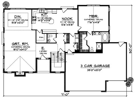 section 1059 plans house plan 3 bedrooms 3 bath 2481 sq ft plan 7 810