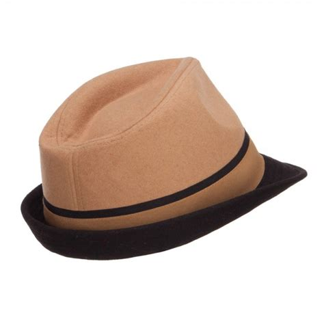 Imported Feather Fedora 3 fedora camel two tone fedora with feather e4hats