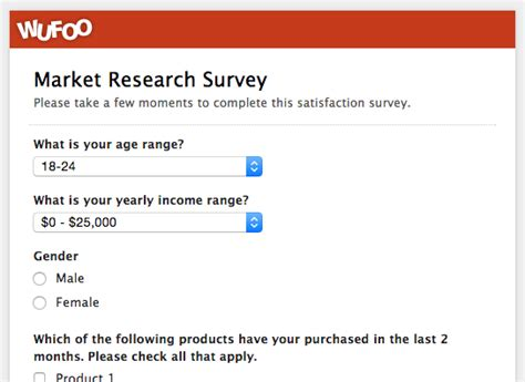Market Research Survey - wufoo blog 183 top 5 customer feedback and satisfaction form templates and why you
