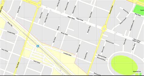 printable map geelong geelong printable map australia exact vector street map