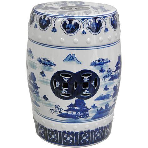 Blue White Porcelain Garden Stool by Furniture 18 Quot Landscape Blue White Porcelain