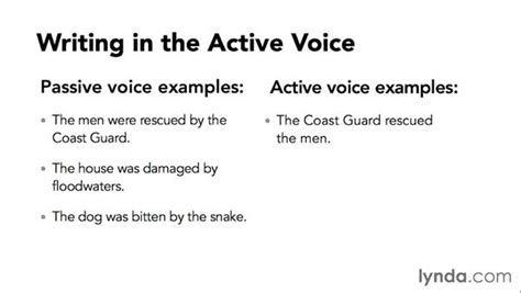 business letter written in active or passive voice writing in the active voice