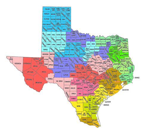 counties of texas map texas map of cities images