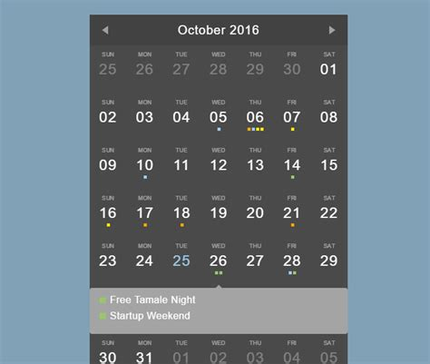 css calendar template 40 best free calendar templates psd css3 wallpapers