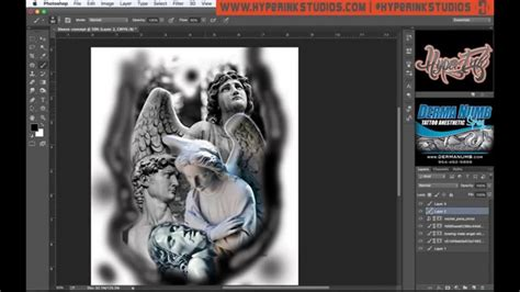 tattoo 3d program how to use photoshop for tattoo designs youtube