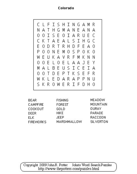 Colorado Search Search Results For Word Search Puzzles For Calendar 2015