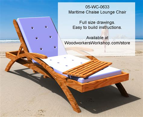 chaise lounge chair plans maritime chaise lounge chair woodworking plan