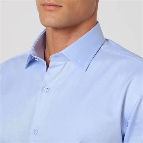 light blue button up solid pinstripe button up shirt light blue 38