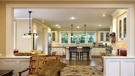 small kitchen living room open floor plan wood floors