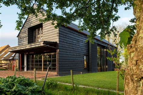 New England Saltbox House by Derelict Barn Conversion Into Modern Home