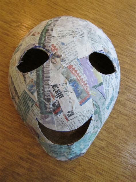A Paper Mask - 23 cool paper mache mask ideas guide patterns