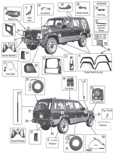 96 jeep parts xj parts 4 wheel drive