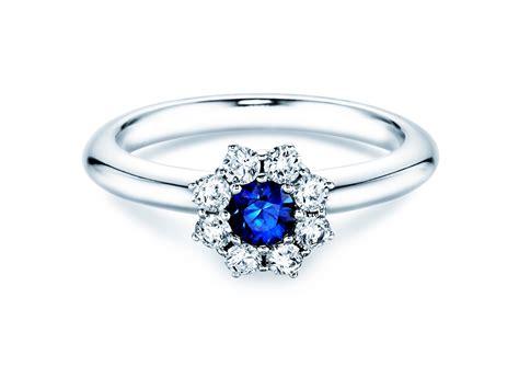 Verlobungsring Gold Mit Diamant by Verlobungsring Saphir Mit Diamanten 0 40 Ct 18 K Weissgold