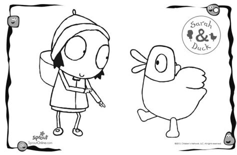 duck coloring pages sarah and duck coloring pages kids