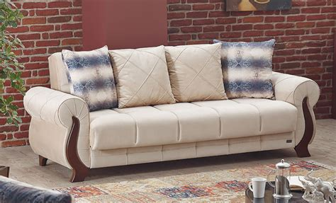 single couch name ontario beige fabric sofa bed by empire furniture usa