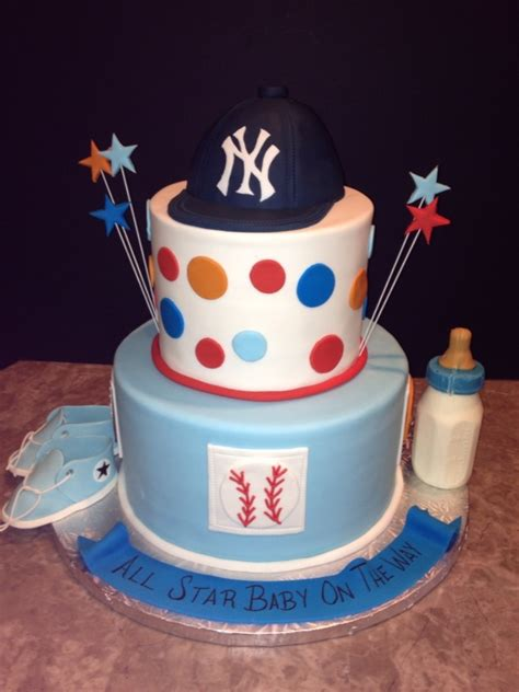 Sports Baby Shower Cakes by Sports Baby Shower Cake Thinking Of Blue Navy