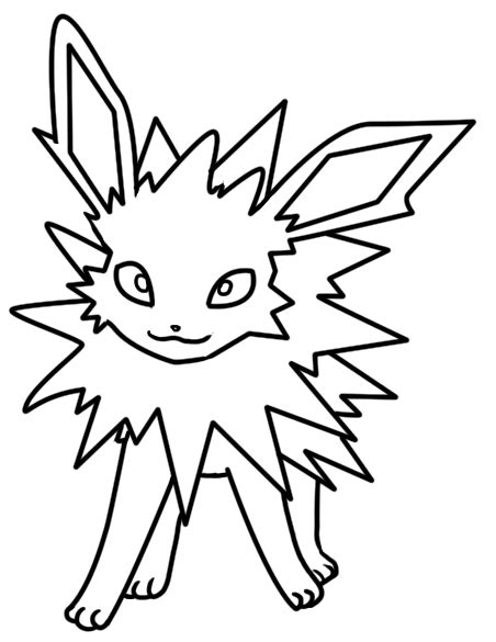 pokemon coloring pages jolteon jolteon coloring pages coloring pages