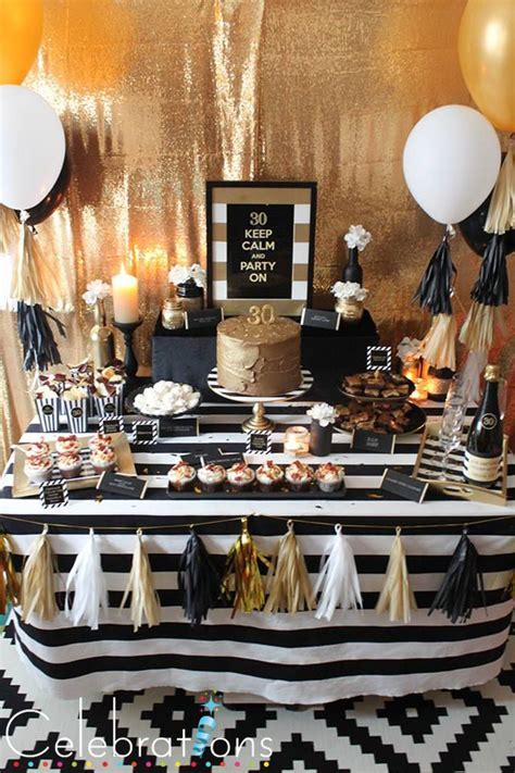 Black and White Gold Dessert Table Hong Kong #