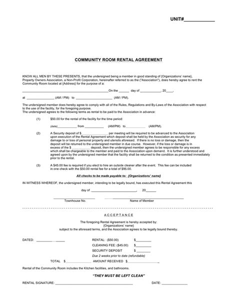 rent a room lease agreement template room rental agreement free documents for pdf