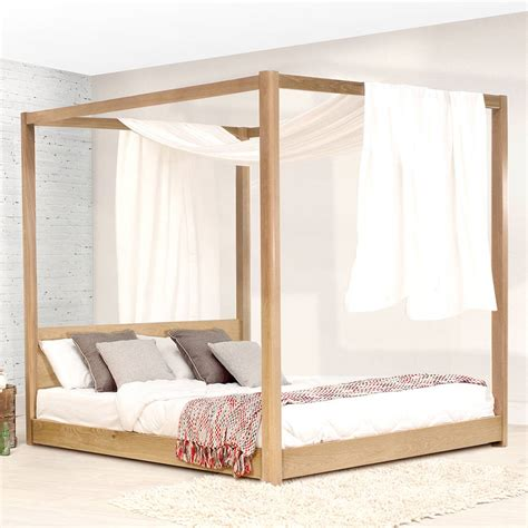 Low Bed Frames Wood Low Wooden Four Poster Bed Frame By Get Laid Beds Notonthehighstreet