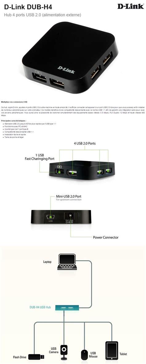 D Link 4 Port Usb 20 Hub hub d link 4 ports usb 2 0 dub h4 iris ma maroc