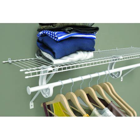 closetmaid adjustable closet rod closetmaid 4 6 ft adjustable wire closet rod kit walmart