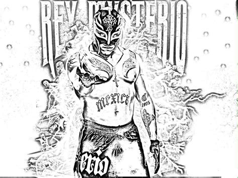 free rey mysterio coloring pages