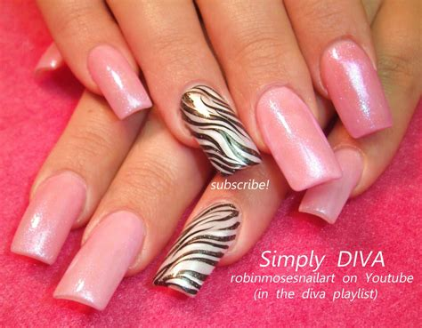 a simple and easy girly zebra nail art design finger easy zebra print nail art design tutorial youtube