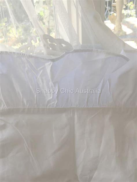 pottery barn double sheet set shabby white ruffles ruffled