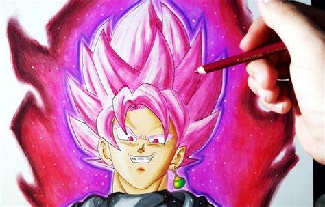 imagenes goku black rose proceso de dibujo de goku black super saiyan rose