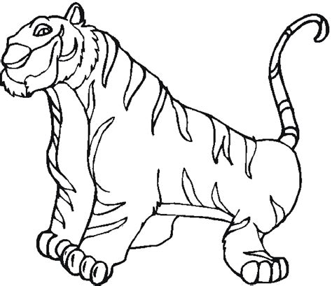 free coloring pages of circus tiger