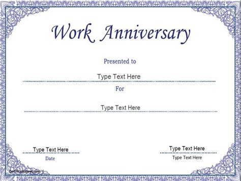 business award certificate templates business certificate work anniversary certificate