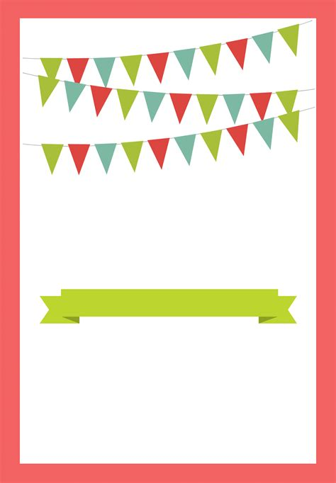 Red Pennants Free Printable Bbq Party Invitation Template Greetings Island Manualidades Birthday Invitation Template