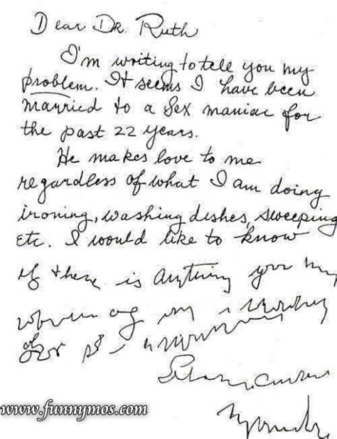 Letter Jokes letter to dr ruth funnymos news and