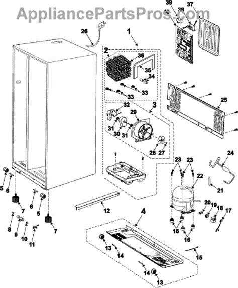 samsung refrigerator maker parts diagram samsung msa182dl2h ash cmp comp refrigerator r 134a