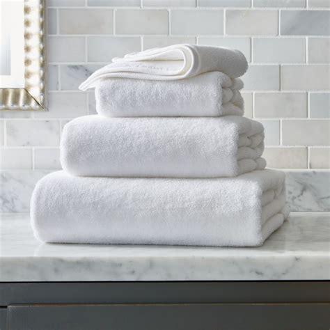 turkish cotton white bath towels crate  barrel
