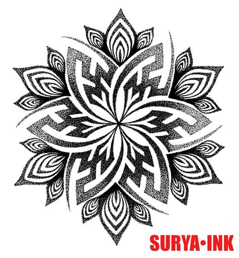 tattoo design swastika mandala surya ink tribal maori