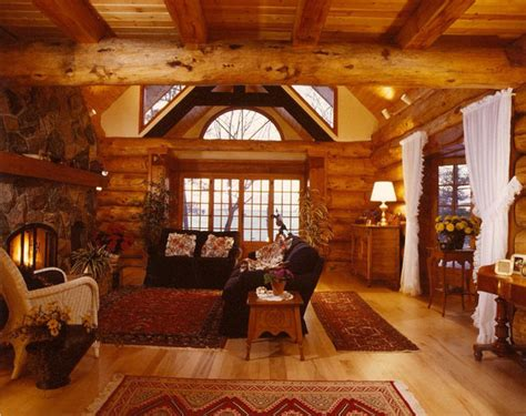 Wood Interior Homes Building A Log House How To Build A House