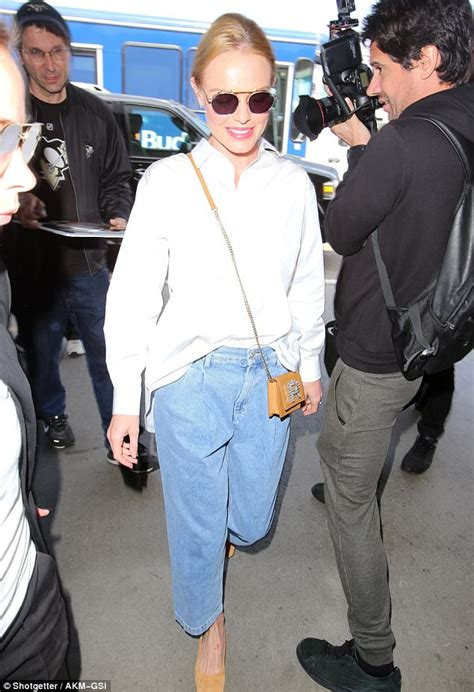 comfortable pants for air travel kate bosworth glows in casual chic button down and jeans