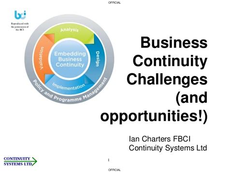 business continuity management challenges and opportunities