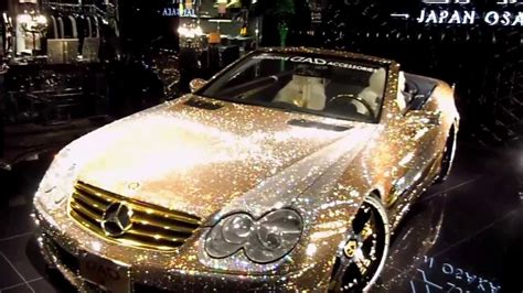 gold glitter car 2012 settembre this is osaka giappone