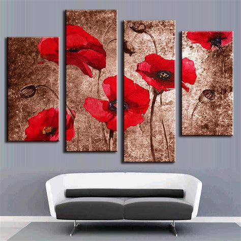 canvas wall art home decor poster  panel abstract red
