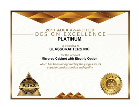 design journal adex awards mirrored cabinet with electric option 2017 adex platinum